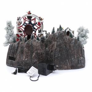 Ruota panoramica invernale con albero rotante 30x40x35 cm s5