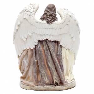Sacra Famiglia con angelo 31 cm resina s3