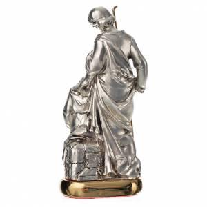 Sacra Famiglia con carillon 16 cm resina color metallo s3