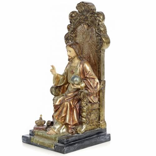 Sacré-Coeur Jésus 25 cm pâte à bois finition polychrome s2