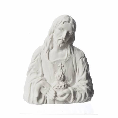 Sacré Coeur de Jésus bas relief 18 cm marbre s1