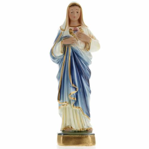Sacré Coeur de Marie plâtre 20 cm s1