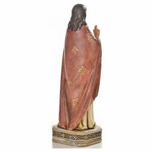 Sacred Heart of Jesus in resin, 20cm s3