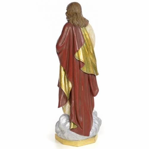 Sacred Heart of Jesus statue 60cm, wood paste, extra decoration s3