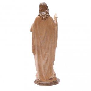 Sacred Heart of Jesus statue in multi-patinated Valgardena wood s4