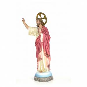 Sacred Heart of Jesus wood paste 100cm, fine finish s2