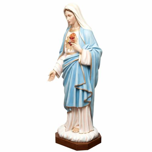 Sacred Heart of Mary statue in painted fiberglass 165cm s4