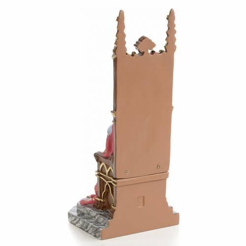 Sacro cuore di Gesù su trono 25 cm dec. elegante s3