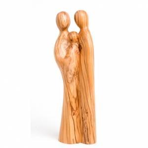 Imágenes de madera natural: Sagrada Familia olivo
