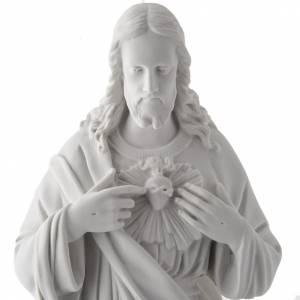 Imágenes en polvo de mármol de Carrara: Sagrado Corazón Jesús 50cm  polvo de mármol