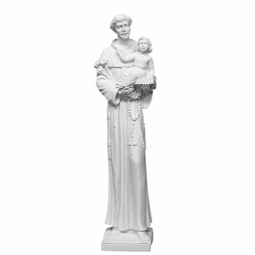 Saint Anthony of Padua in reconstituted Carrara marble s1