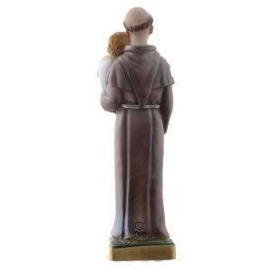 Saint Anthony of Padua statue in pearlized plaster, 20 cm s4