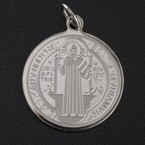 Saint Benedict medal in stainless steel 30mm s2