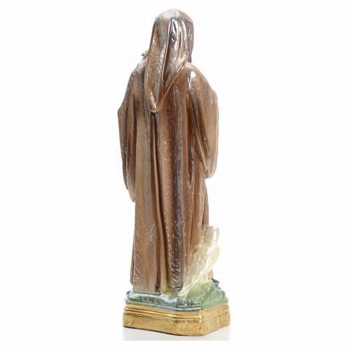 Saint Benedict statue in iridescent plaster 30cm s3