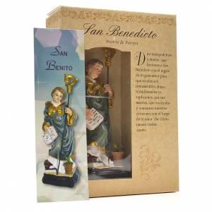 Saint Benoit 12cm image et prière en Espagnol s3