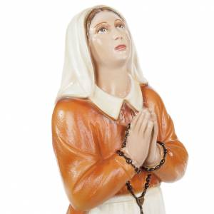 Saint Bernadette statue, 35cm in painted reconstituted marble s2
