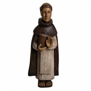 Saint Dominic statue in painted wood, 46 cm s1