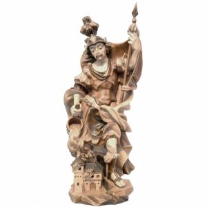 Saint Florian in multi-patinated Valgardena wood, baroque style s1