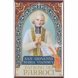 Saint John maria Vianney plaque, gold s1