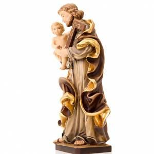 Saint Joseph avec l'enfant Jésus, statue bois s3