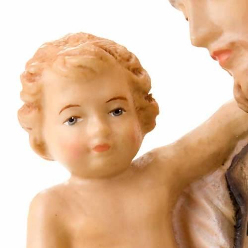 Saint Joseph avec l'enfant Jésus, statue bois s4
