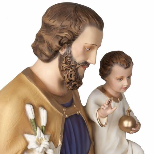 Saint Joseph with infant Jesus, fiberglass statue 160 cm s9