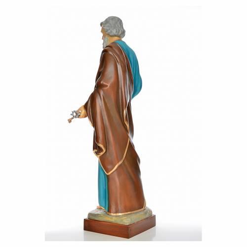 Saint Peter statue in painted fiberglass s3