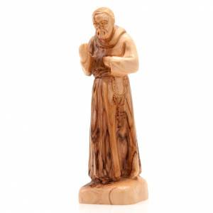 Natural wood statues and figures: Saint Pio of Pietralcina