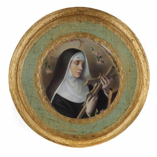 Saint Rita picture on round wood panel s5