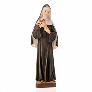 Hand painted wooden statues: Saint Rita