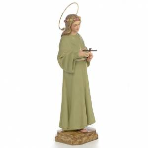 Saint Rosalia Statue in wood paste, 40 cm s4