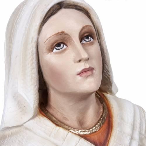 Sainte Bernadette marbre reconstitué 50cm peinte s6