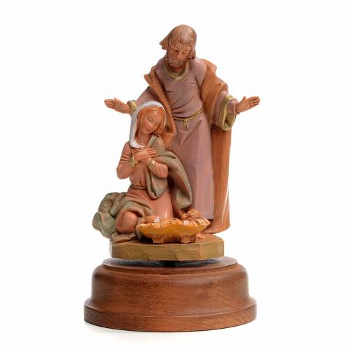 Sainte Famille crèche 18 cm avec carillon Fontanini s1