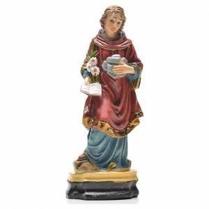 Imágenes de Resina y PVC: San Esteban 12cm con imagen y oración en Francés