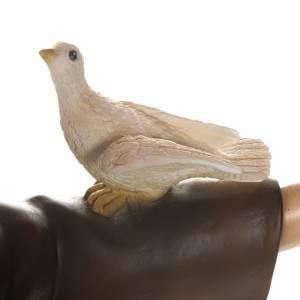 San Francisco con palomas 100 cm en fibra de vidrio s11