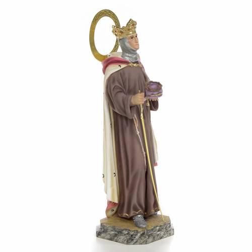 San Luigi Re di Francia 40 cm pasta di legno dec. elegante s4
