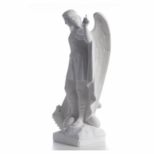 San Michele arcangelo 60 cm marmo bianco s3