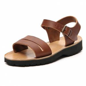 Sandales franciscains mod. Bethléem cuir Moines de Bethléem s2