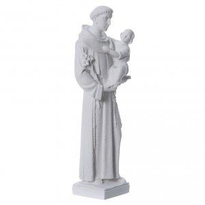Sant'Antonio da Padova 40 cm polvere di marmo bianco s3