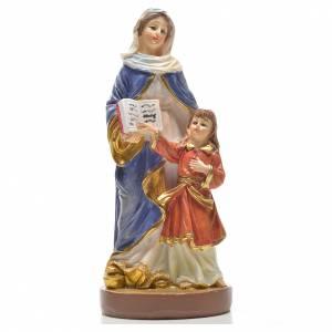 Santa Ana 12cm con imagen y oración en Ingles s1