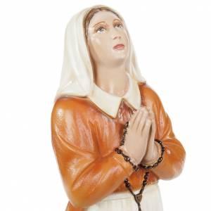 Santa Bernadette 35 cm marmo sintetico dipinto s2