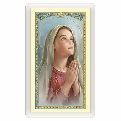 Santino Madonnina che prega Preghiera del Sorriso ITA 10x5 s1