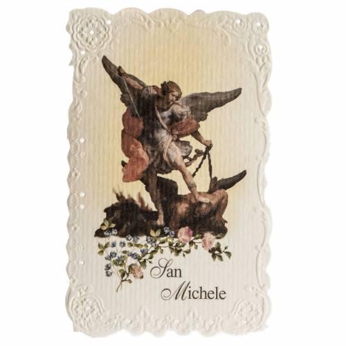 Santino San Michele Arcangelo con preghiera s1