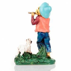 Berger avec flûte et brebis 10 cm s2