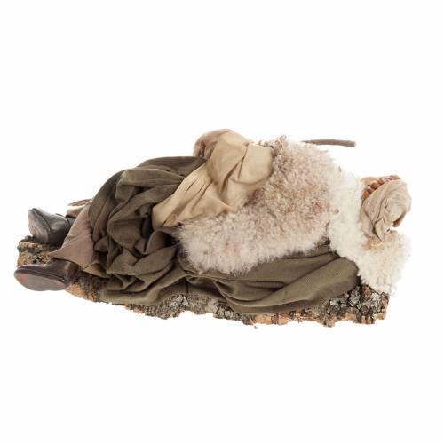 Santon berger endormi 30 cm crèche Napolitaine s4