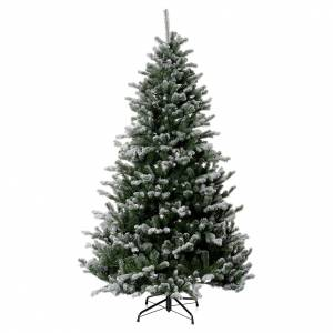 Sapins de Noël: Sapin de Noël 210 cm neige glitter Poly Sheffield