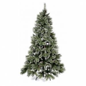 Sapins de Noël: Sapin de Noël 210 cm vert avec pommes pin Glittery Bristle