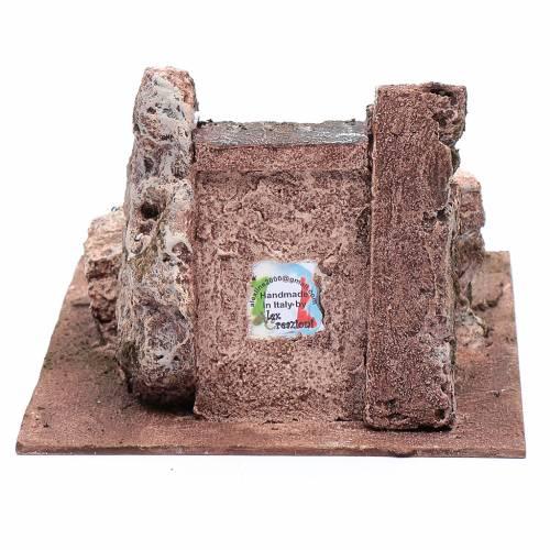 Scaletta del presepe antica 10x15x25 cm s4