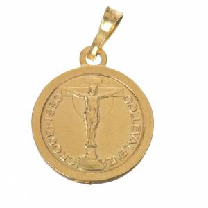 Scapulaire argent 800 doré diam 2 cm s2