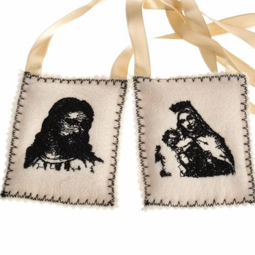 Scapular, black with embroideries s1